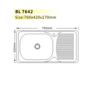 Kitchen Sink BL7642 Home Hardware Metal Furniture Fittings